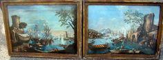 Paire De Vedute Maritimes, Ecoles Italiennes 18ème, Huiles/toiles, ARTE TRES GALLERY, Proantic