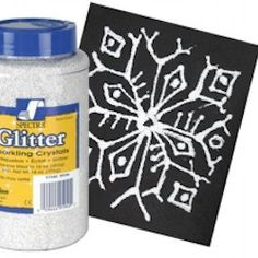 Glitter Snowflakes Craft -- Turn into mobile with multiple cards & wire photo hangar in V's room