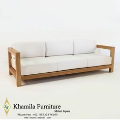 Bangku Sofa Santai Ruang Tamu Patio Lounge Furniture, Lounge Couch, Outdoor Furniture Plans, Pallet Furniture, Furniture Design, Lounge Chairs, Modern Furniture, Sofa Area Externa, Wooden Sofa Designs