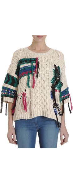 Isabel Marant lucky irish crewneck sweater....must find white sweater to attack with various colours of yarn