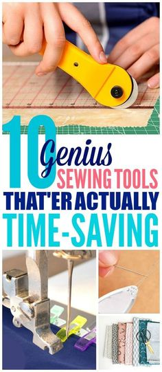 These 10 sewing tools are THE BEST! I'm so happy I found these AMAZING sewing tools for beginners! Now I have some great ways to sew faster and easier for my sewing projects! I'm definitely pinning these sewing hacks and tips! #sewing #sewingprojects #sewingtips #sewingforbeginners