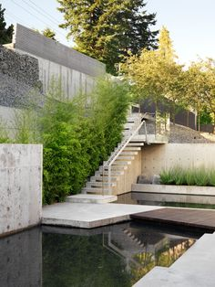A private residence on a steeply sloping site in West Vancouver.