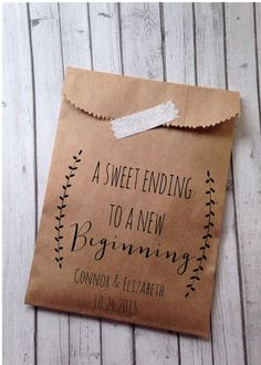 Cute wedding favor craft paper bags