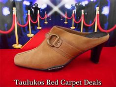 Fab find Womens shoes BASS Brown LEATHER high heel Slip-On MULES Pumps Slides Clogs 7.5 M #BASS #TanBrown #Mules