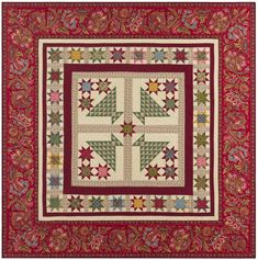 Marcus Fabrics Paula Barnes Baltimore House Baskets of Stars Quilt Kit 61 by 61 inches Medallion Quilt, Basket Quilt, Star Quilt Patterns, House Quilts, Vintage Baskets, Quilts For Sale, Quilt Making, Quilt Blocks, Bohemian Rug
