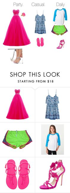 """""""Madi's looks designed by Madi"""" by haileyvontz ❤ liked on Polyvore featuring H&M, Havaianas and Oscar de la Renta"""