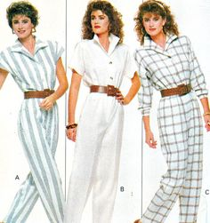 1980s Womens Jumpsuit Pattern Butterick 6087 Front by paneenjerez, $9.00