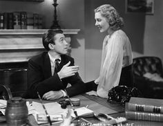 Jean Arthur and James Stewart in a scene from the 1939 film Mr Smith Goes to Washington