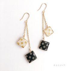 - ゆれるドット - square pierce & earring
