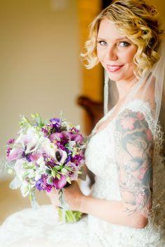 Purple bridal bouquet flowers @flowersbyaprilct