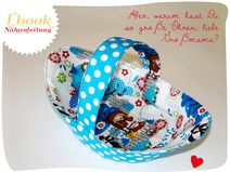 Ebook: Nähanleitung und Schnittmuster für ein kleine Deko Körbchen: ob Ostern oder die Blumenmädchen an Deiner Hochzeit