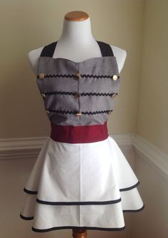 West Point USMA Apron West Point Uniform Style Apron by CARENALYNN, $90.00