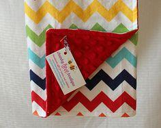 Gender Neutral Snuggle Blanket // Made to Order // Rainbow Chevron Blanket // Baby Girl Blanket // Baby Boy Blanket // Receiving Blanket