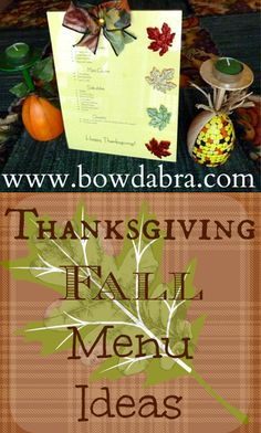 Thanksgiving Fall Menu Idea