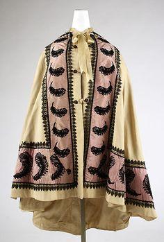 Cloak  Date: ca. 1851 Culture: American Medium: wool, silk Dimensions: Length at CB: 44 in. (111.8 cm)
