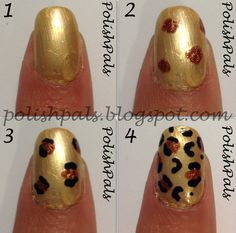 How to Make Cheetah Nails for Girl
