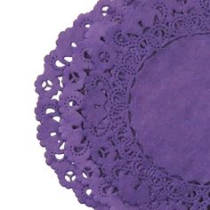 Imperial Dark Purple Colored Normandy Style Paper Lace Doilies