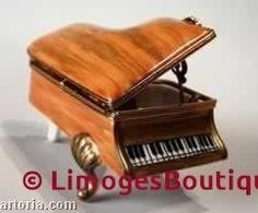 Grand Piano Music Box Limoges Boxes