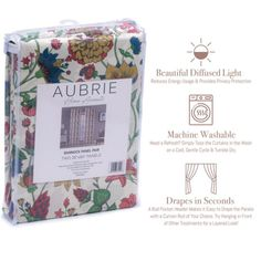 """Give your home a fresh new look with the Bannock window curtains from Aubrie Home Accents. This pair of curtain panels features a bold floral print with colorful illustrations to spruce up your bedroom, living room or dining room. Each panel measures 38"""" x 84"""" for a total width of 76 inches. The rod pocket header allows them to easily slip through for quick hanging. These curtains are made from polyester and are machine washable for easy care. Curtain Panels, Window Curtains, Diffused Light, Rod Pocket, Pink Yellow, Header, Floral Prints, Dining Room, Windows"""