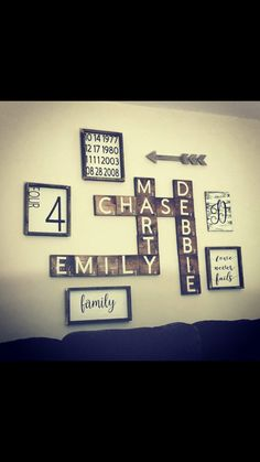 Half a Dozen Designs Scrabble Tile Art, Gallery Wall, Signs, Future, Wall Art, Frame, Kitchen, House, Home Decor