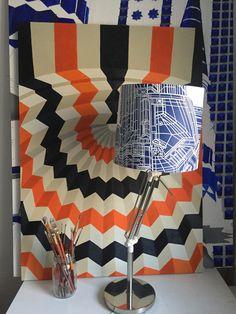 Linocut lampshade   Marta Banaszak   printmaking Printmaking, Quilts, Blanket, Quilt Sets, Printing, Blankets, Log Cabin Quilts, Cover, Comforters