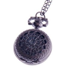 Ladies Quartz Pocket Pendant Watch With Chain Small Face White Dial Arabic Numerals Vintage Necklace Design PW-54 ShoppeWatch. $25.00. Metallic Black Case Ladies Style with Small Face. Can be worn like a Necklace with a Pendant. Length of the Chain is 32 inches. Case Diameter is 1 inch (Approx the size of a Quarter dollar)