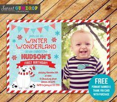 Polar Bear Birthday Invitation  Printable  FREE by SweetGumdrop