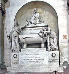 Memorial to Dante Alighieri (later 1800s) - looks like a tomb but in fact our man spent the last years of his life in Ravenna, in exile from his home in Florence, and his real tomb is by the cloister gate of the Franciscan church in Ravenna.