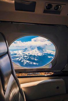 Window seat on a Gulfstream.