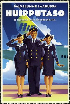 Poster for Air Finland or Finnair?