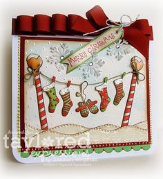 Taylored Expressions Hangin' Out At the North Pole stamp set. Cute card!!!