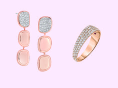 A rosy disposition #LaVieEnRose | www.goldcasters.com Italian Gold Jewelry, Gem Diamonds, Roberto Coin, World Cultures, Jewelry Collection, 18k Gold, Exotic, Fine Jewelry, Jewelry Design
