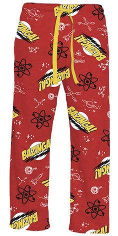 The Big Bang Theory Bazinga Red Adult Lounge Pants $22.95
