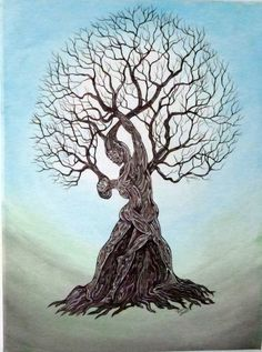 I like the intertwining of masculine and feminine, especially in the form of nature. Dancing in Nature Unique Original Painting on a by ArtbySimplyMe, $150.00