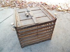 Wooden Egg Crate / Humpty Dumpty / Farm Fresh by assemblage333, $65.00