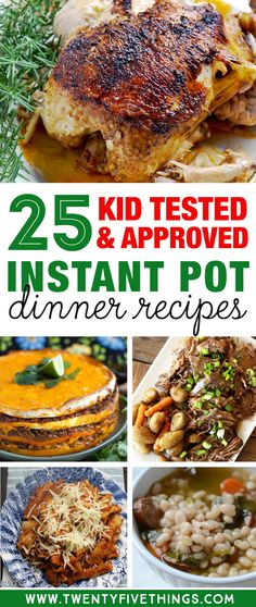 Get some delicious dinner ideas for this week using your Instant Pot. These are all kid friendly instant pot recipes for dinner. Mac and cheese, meatloaf, chick Parma, chicken tikka masala