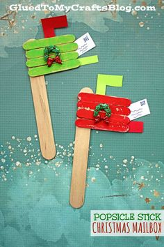 Popsicle Stick Christmas Mailbox - Kid Craft Idea When I think of Christmas, I think of children writing letters to Santa so that's exactly what inspired our latest Popsicle Stick Mailbox kid craft idea!