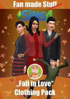 """""""Fall in Love"""" Clothing Pack   Infos + download under the cut // Für Infos + Download weiterlesen   [ENGLISH] This was the 3rd part of my 2016 Simblreen gift, now available for all! It's the  best time of the year to … fall … in love, eheheh. Is it called  fall or autumn by the way? I don't know, but I know these clothes will  make your sims feel comfortable for colder seasons ~ let's hope, they  will come as another Sims 4 addon.    Features:      Female  clothes are basegame compa..."""
