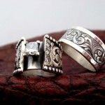 His and hers, Travis Stringer rings.  Would be nice Anv. rings for me & the Cowboy.....