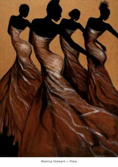 Shop for ''Flow'' by Monica Stewart African American Art Print x 24 in. Get free delivery On EVERYTHING* Overstock - Your Online Art Gallery Store! Black Girl Art, Black Women Art, Art Girl, African American Art, Native American Indians, African Art, African Dance, African Culture, My Black Is Beautiful