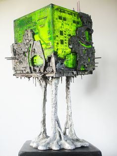 The China Syndrome 2013 circuitboard sculpture by dutch artist Peter Schudde