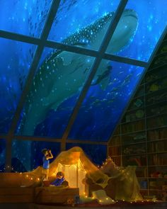 Pillow Fort Research Outpost by TamberElla on DeviantArt Image Painting, Beautiful Artwork, Prints For Sale, Location History, Outdoor Gear, Aquarium, Mermaid, Deviantart, Instagram