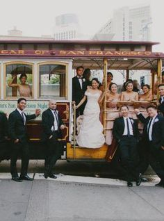 San Francisco cable car for transport from ceremony to reception.