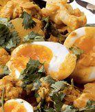 Květákové kari s vejci (zázvor, kok.mléko)
