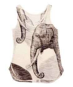 This White & Gray Elephant Tank is perfect! #zulilyfinds