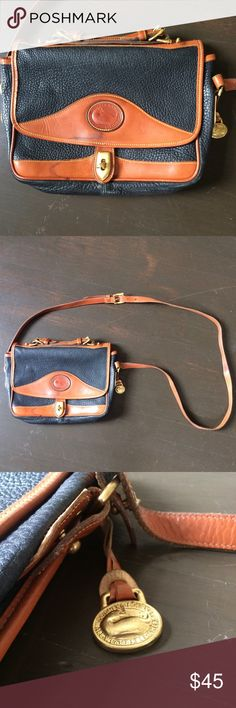 VTG Dooney & Bourke Crossbody Love this Bag ✨ has wear, discoloration and wrinkling in leather. Part of the trim has flaked off but still gorgeous otherwise. Has an adjustable strap. Dooney & Bourke Bags Crossbody Bags