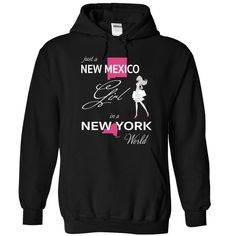 NEW MEXICO GIRL IN NEW YORK WORLD T-Shirts, Hoodies. BUY IT NOW ==► https://www.sunfrog.com/LifeStyle/NEW-MEXICO_NEW-YORK-Black-76570171-Hoodie.html?id=41382