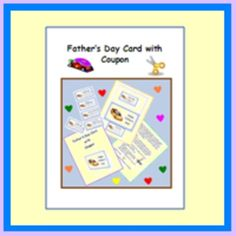 This Father's Day coupon card is very simple to make. Just print, let students cut and fill out the coupon for their dads or any father-figure. $2.00