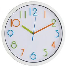 a86615670f8 Bernhard Products Colorful Kids Wall Clock 10