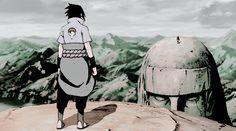 "NARUTO: ""Doesn't it bring back memories, Sasuke? Long ago, we fought here."" SASUKE: ""And just like before, you're going to lose. The Final Valley - Naruto: Shippūden Sasuke Uchiha Sharingan, Naruto Vs Sasuke, Naruto Anime, Kakashi Sensei, Naruto Sasuke Sakura, Naruto Shippuden Anime, Boruto, Gifs, Anime Fight"